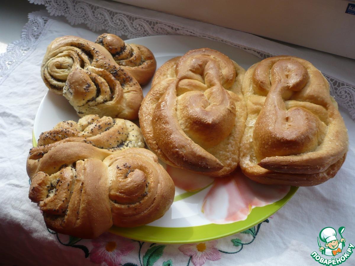 Тесто для булочек с маком сухими дрожжами пошагово