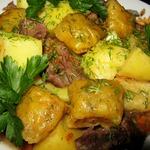 Ароматные подушечки с мясом и картофелем