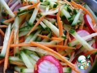 Салат из моркови, огурца и редиса ингредиенты