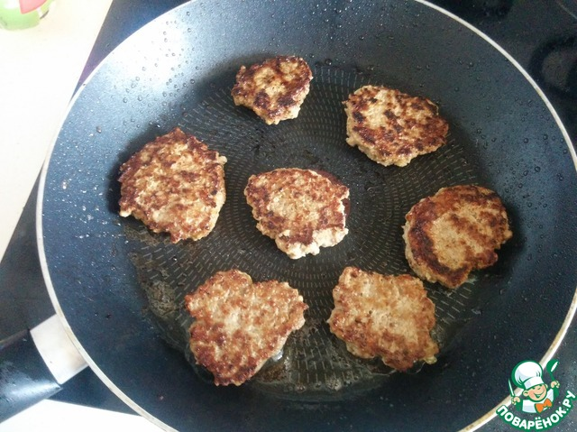 Котлеты из куриного фарша и свиного фарша рецепт с пошаговый с