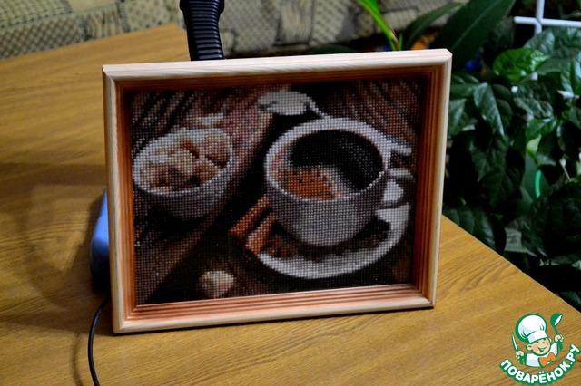 Алмазная вышивка кофейная тема 33