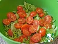 Салат с креветками, авокадо и черри ингредиенты