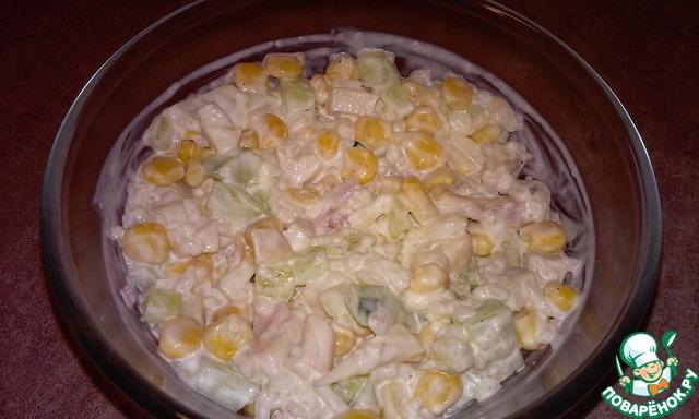Салат из кальмаров без яиц рецепт с очень вкусный с