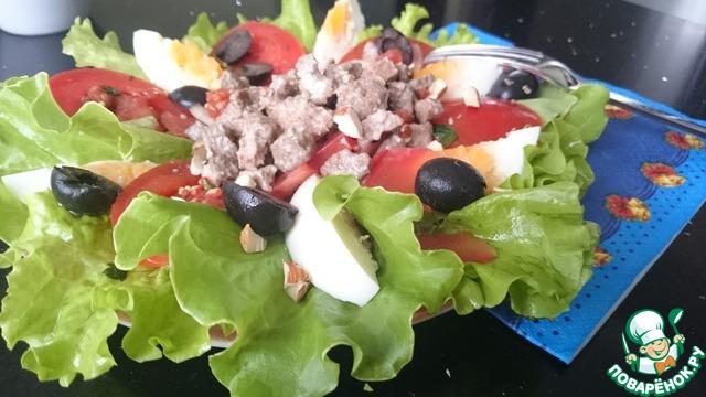 Фото теплых салатов