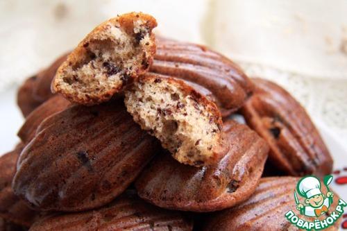 """Медовое печенье """"Мадлен"""" с шоколадной крошкой"""