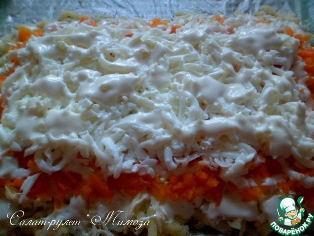 Салат мимоза рецепт с рулет