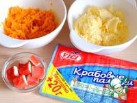 """Закуска """"Сырные шарики с крабовыми палочками"""" ингредиенты"""