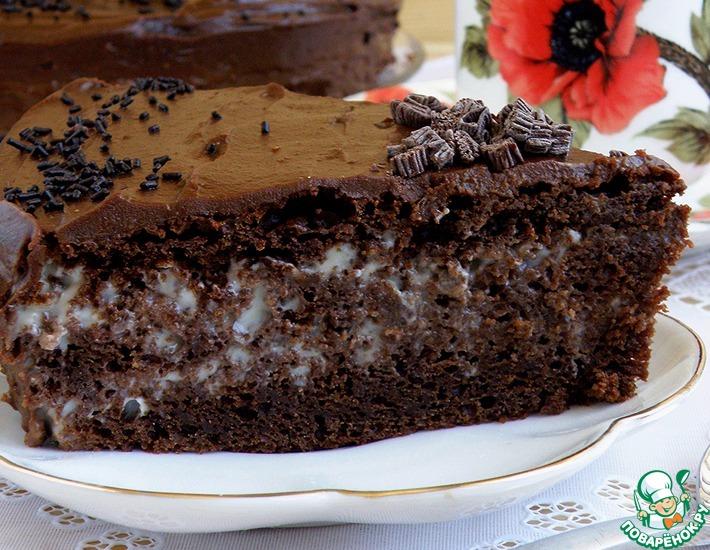 Рецепт: Торт шоколадный «Ретро»