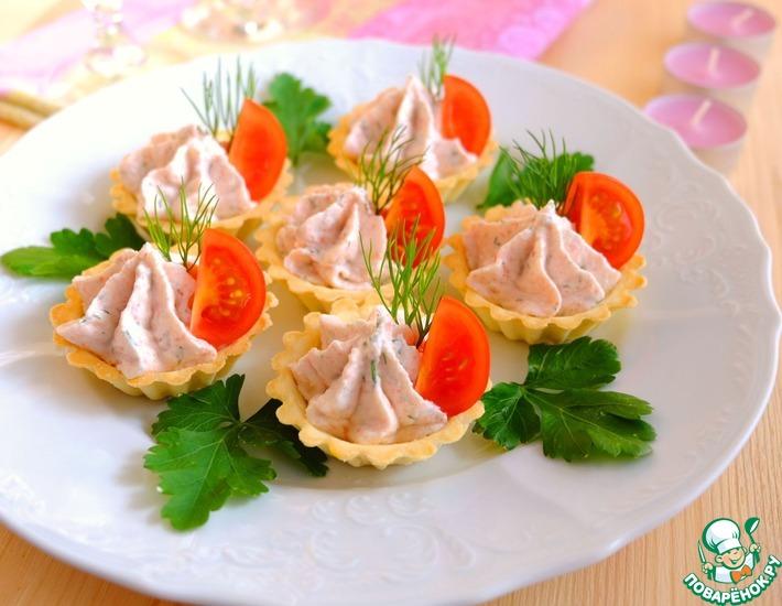 Рецепт: Тарталетки с крабово-творожным кремом