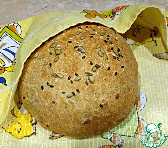 Пшенично ржаной хлеб в хлебопечкеы