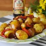 Мелкий картофель, жаренный по-корейски