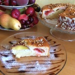 Пирог на йогурте с фруктами