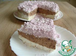 Рецепт: Шоколадно-ореховый торт-мороженое