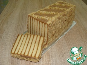 """Рецепт: Торт без выпечки """"Полосатый"""""""