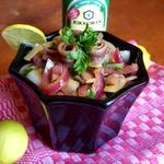 Луковый салат с анчоусами