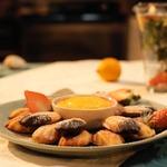 Французское пирожное Мадлен с лимонным кремом
