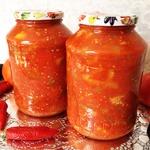 Салат из <em>хинкали</em> баклажанов острый в томате