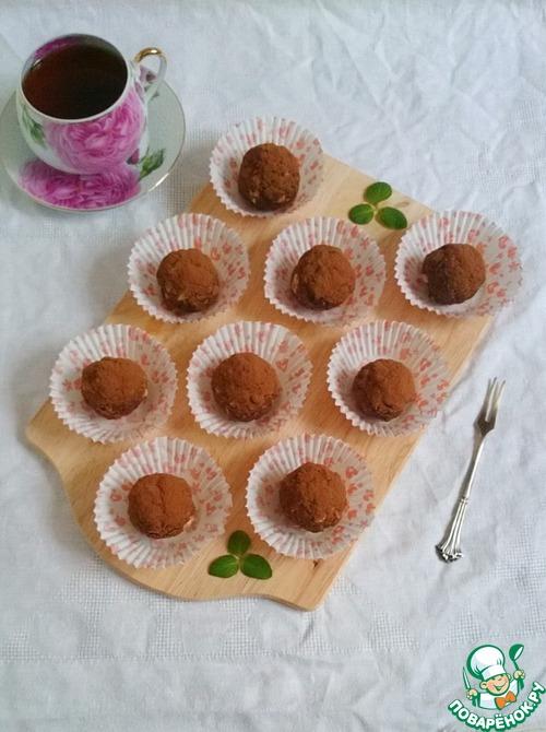 """Пирожное """"Шоколадные шарики"""" с орехами"""