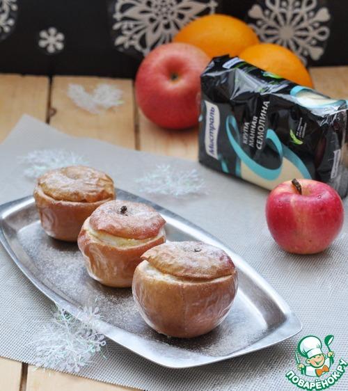 """Десерт из запечённых яблок """"Зимний"""""""