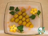 Заливное из курицы с оливками и кукурузой ингредиенты