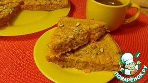 """Рецепт: Пирог """"Морковно-яблочное удовольствие"""""""