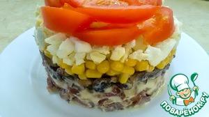 "Рецепт: Салат ""Маркиза"" без майонеза"