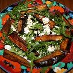 Салат из печеных баклажанов с фетой