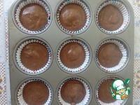 """Кексы шоколадные """"Шапка Деда Мороза"""" Какао-порошок"""