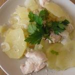 Картофель с курицей, запеченные в фольге