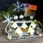 Пирожные с ванильным пудингом «Маленькая елочка»