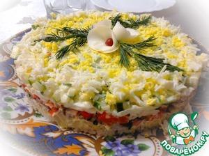 рецепт салата с рисом и красной рыбой