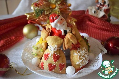 Постное печенье «Мешок Деда Мороза»