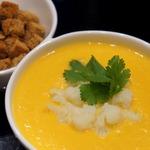 Суп-пюре из тыквы с цветной капустой