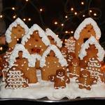 """Миндальное печенье """"Рождественская деревня"""""""