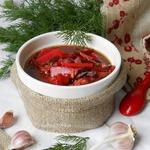 Суп со свеклой и солеными огурцами
