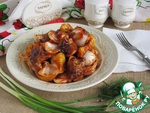 Рецепт: Тёплый шашлычный салат