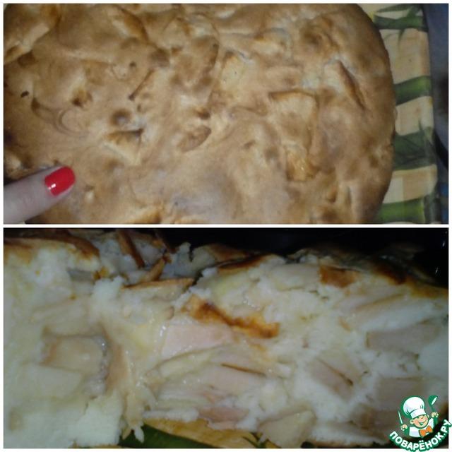 шарлотка с яблоками рецепт с фото пошагово поваренок