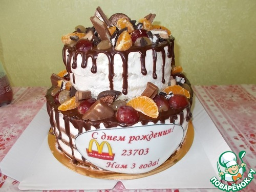 Торт с фруктовой начинкой рецепт с фото