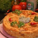 Пирог с курицей, грибами и фетой