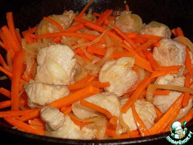 Свинина с рисом горшочках рецепты с фото