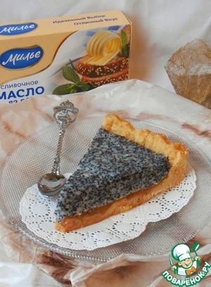 Рецепт: Тарт с маком и заварным кремом