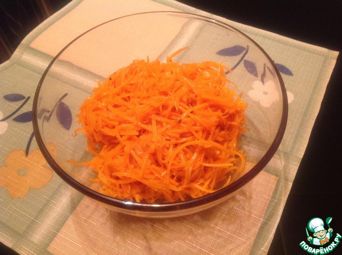 Морковь по корейски приготовления быстро