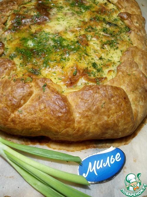 Пирог на молоке с картошкой в духовке