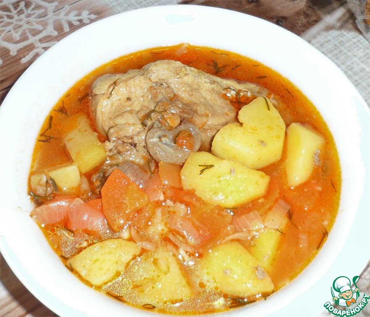 Шурпа из баранины и свинины рецепт