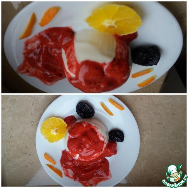 Панна котта из йогурта с амаретти  рецепт приготовления