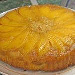 Пирог-перевертыш с манго