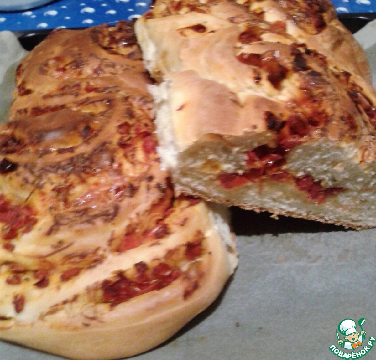 Хлеб с вялеными помидорами рецепт