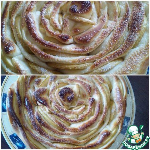 Яблочный пирог роза рецепт