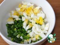 Оладьи с зелёным луком и яйцом ингредиенты