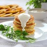 Дрожжевые картофельные оладьи
